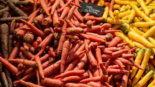 Übervolle Karotten-Lager