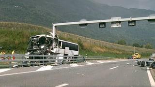 Grev accident cun in autocar datiers da Lugano