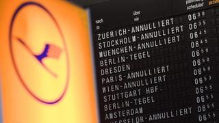 Lufthansa-Streik führt auch zu Ausfällen am Zürcher Flughafen