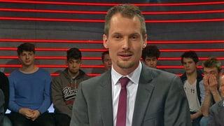 Moderator Jonas Projer möchte von den «Arena»-Diskussionsteilnehmern wissen, wer ihr persönlicher Comic-Held ist.
