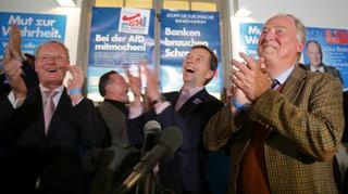 Eurogegner AfD jubelt über Einzug in zwei Landtage
