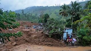 Erdrutsch verschüttet Siedlung bei Teeplantage in Sri Lanka