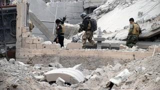 Irakische Soldaten stehen im Zentrum von Ramadi
