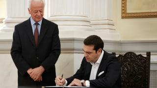 Alexis Tsipras als griechischer Premier vereidigt