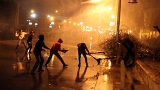 Strassenschlachten im Zentrum von Kairo