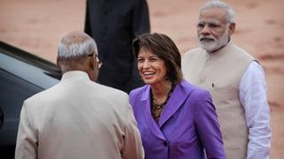 Die Bundespräsidentin startet die «Mission to India»