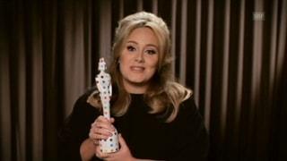 Adele an den Brit Awards: Ohne Unterbruch und Stinkefinger