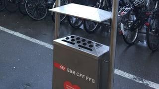 Am Basler Bahnhof SBB hat's sich ausgequalmt