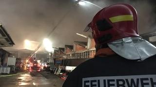 Millionenschaden nach Grossbrand in Rothrist