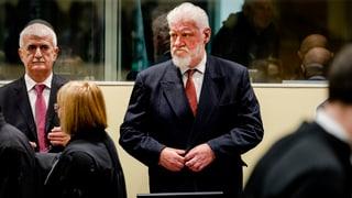 Der kroatischer Kriegsverbrecher Praljak hat während der Urteilsverkündung Gift geschluckt. Er starb später im Spital.