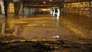 Überschwemmung, Hangrutsche und Stromausfälle um Zofingen
