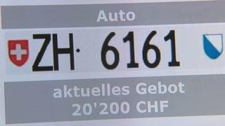 Das Geschäft mit tiefen Autonummern