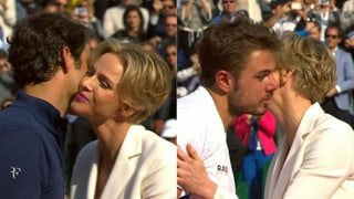 Küsschen von Charlène: Fürstliche Ehre für Wawrinka und Federer