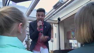 Für 10'000 Franken: Sänger Luca Hänni gibt ein Privatkonzert