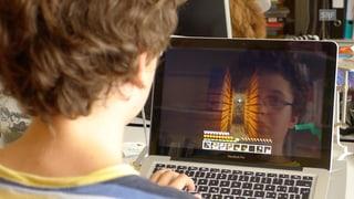 Kinder zeigen ihre Minecraft-Welten