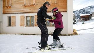 Mo ina scola da skis a Motta Naluns sur Scuol