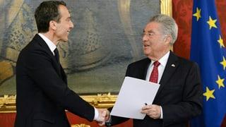Christian Kern saramentà sco nov chancelier da l'Austria