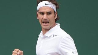 Prominentes Mitfiebern mit Federer