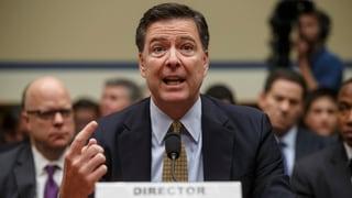 Der gefeuerte FBI-Chef Comey machte im März publik, dass er in der Russland-Affäre bereits seit letztem Juli ermittelt.