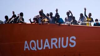 Die «Aquarius» ist immer noch im Mittelmeer