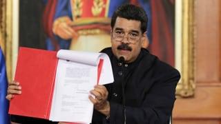 Präsident Maduro will die Verfassung ändern. Lesen Sie hier, weshalb die Opposition das als Putschversuch bezeichnet.