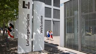 LafargeHolcim serra ses lieus da concern a Turitg e Paris