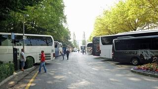 Kein Platz mehr für Reisebusse beim Luzerner Inselipark
