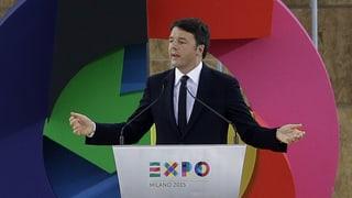Matteo Renzi: «Jetzt ist die Expo Realität»