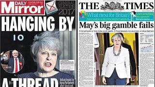 Die Meinungen in den britischen Zeitungen sind gemacht: May wollte das Glücksspiel und ist kläglich gescheitert. Eine Presseschau.