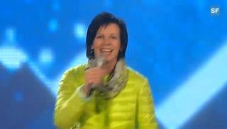 Vreni Schneider als Schlagersängerin: Nervös vor grossem Auftritt