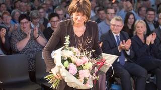 Blumen und mehr für Doris Leuthard