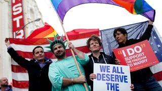 US-Gericht führt Schicksals-Debatte zur Homo-Ehe