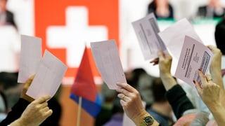 Einhelliges Ja der SVP-Delegierten zur Gripen-Beschaffung