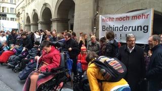 Demonstration vor Luzerner Regierungsgebäude