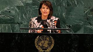 «Nicht im Geiste der UNO»: Doris Leuthard reagiert auf Trumps scharfe Nordkorea-Kritik. Benjamin Netanjahu erklärt Trumps Rede für «mutig».
