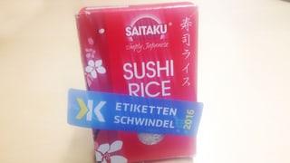 Migros-Reis ist «Etikettenschwindel des Jahres 2016»