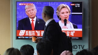 Clinton kann auch im zweiten TV-Duell gegen Trump punkten