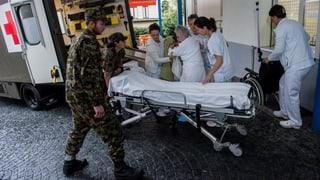 Spital in Locarno wegen drohenden Überschwemmungen evakuiert