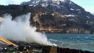 Sturmtief peitscht über die Alpennordseite