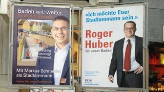 CVP Baden stellt sich nur halbherzig  hinter FDP-Kandidaten