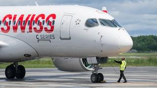 Swiss präsentiert die neue Bombardier-Maschine