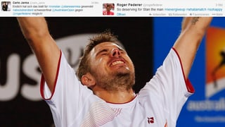 #Wawrinka – Federer, Baker, Janka & Co. jubeln auf Twitter mit