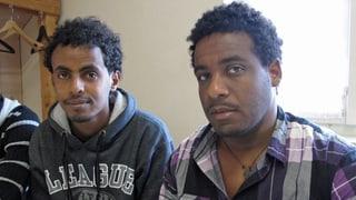 Einzug der Eritreer im Kloster Einsiedeln