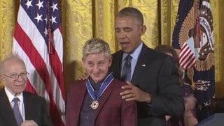 Obama rührt Ellen DeGeneres zu Tränen