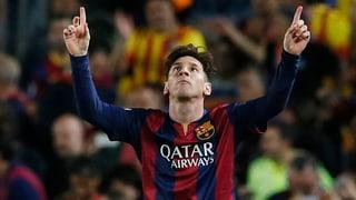 Messi-Doublette lässt Barcelona jubeln