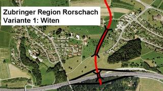 Autobahnanschluss Rorschach sorgt für Wirbel