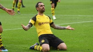 Dortmund dank Last-Minute-Alcacer wieder Leader