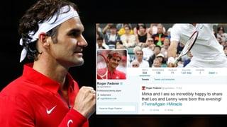 Die (Tennis-)Welt gratuliert Federer zu den Zwillings-Buben