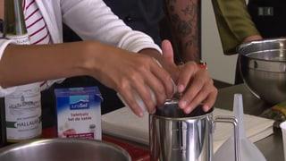 Blind kochen mit dem Joghurtbecher