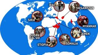 Las pli urgentas crisas umanitars dal mund